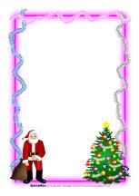 Christmas A4 page borders (SB1059) - SparkleBox