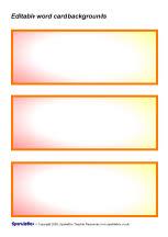 palm card template word - editable word card backgrounds sb1179 sparklebox