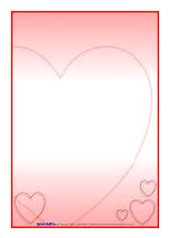 Valentines day A4 page borders (SB1186) - SparkleBox