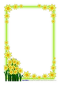 st david u2019s day daffodil a4 page borders  sb1248  sparklebox relief society clip art images lds clipart relief society