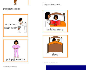 Home visual timetable and routine resources