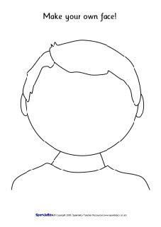 Blank faces templates (SB1359) - SparkleBox