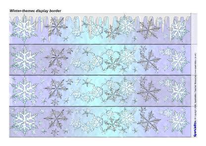 Winter-themed display border (SB1847) - SparkleBox
