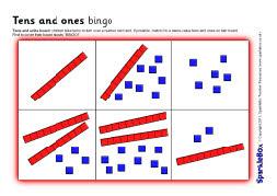 Tens and ones/units bingo (SB1899) - SparkleBox