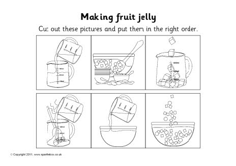 Making fruit jelly sequencing sheet (SB1908) - SparkleBox