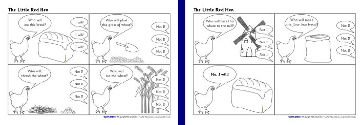 Little Red Hen sequencing sheets (SB2037) - SparkleBox