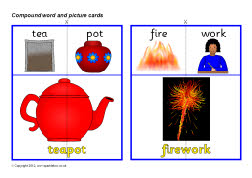 Compound word and picture cards (SB2092) - SparkleBox
