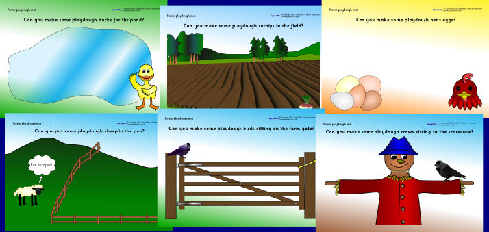 Farm Playdough Mats Sb2098 Sparklebox