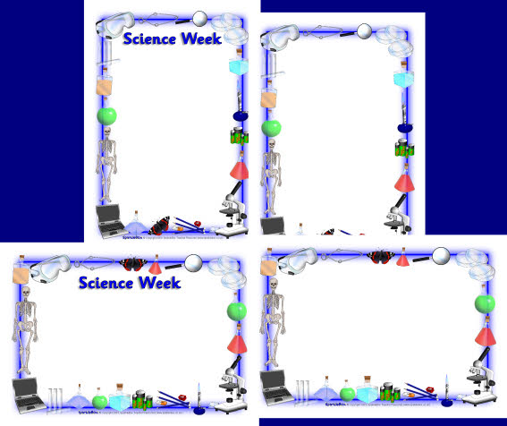 Science week science a4 page borders
