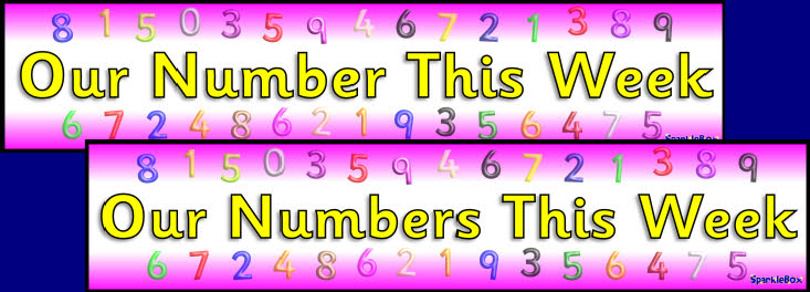 Our Number S This Week Display Banners Sb2852 Sparklebox