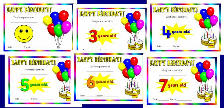 Birthday Certificates Sb3014 Sparklebox