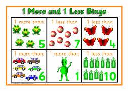 1 more and 1 less bingo to 10 sb3134 sparklebox. Black Bedroom Furniture Sets. Home Design Ideas
