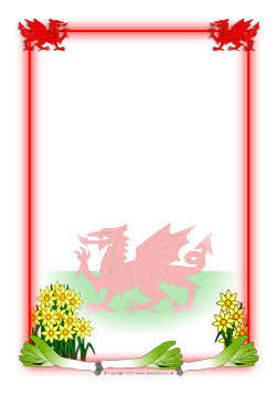 Wales-themed A4 page borders (SB3235) - SparkleBox