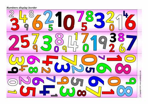 Numbers Display Border SB3275 SparkleBox