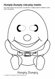 Humpty Dumpty role-play masks - black and white (SB3299) - SparkleBox
