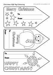 Christmas gift tag colouring (SB3542) - SparkleBox
