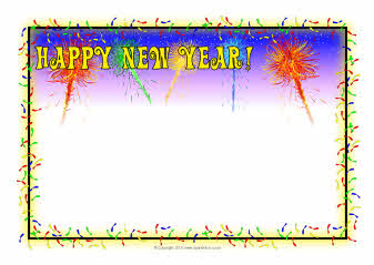 Happy New Year A4 page borders (SB3590) - SparkleBox