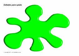 Editable paint splat templates (SB3835) - SparkleBox