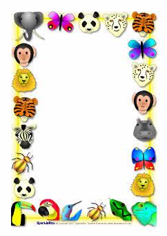 Pin Baby Jungle Animals Border Clip Art on Pinterest