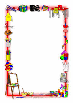 School-themed A4 page borders (SB3893) - SparkleBox