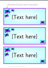 Butterfly-themed classroom label templates (SB3950) - SparkleBox
