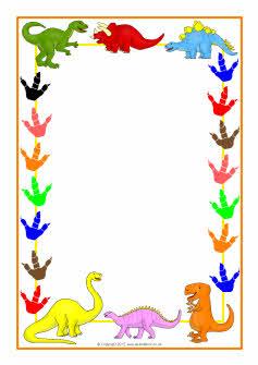 Dinosaur Border Dinosaur-themed a4 page