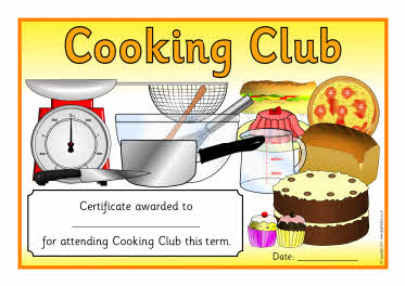 Cooking Club Certificates Sb4145 Sparklebox