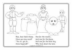 Baa Baa Black Sheep Colouring Sheets Sb4240 Sparklebox Baa Baa Black Sheep Coloring Page