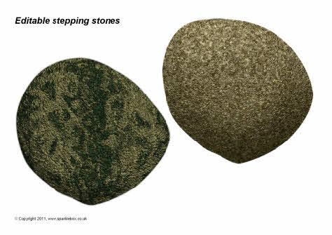 Editable stepping stones template (SB4251) - SparkleBox