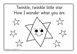 Twinkle, Twinkle Little Star colouring sheets (SB4312) - SparkleBox