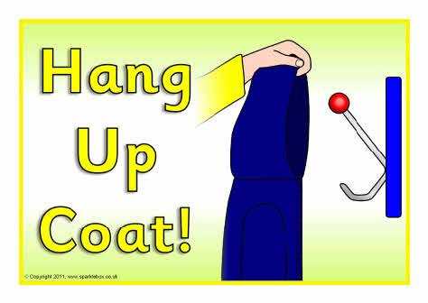 Hang Up Coat Sign Sb4498 Sparklebox
