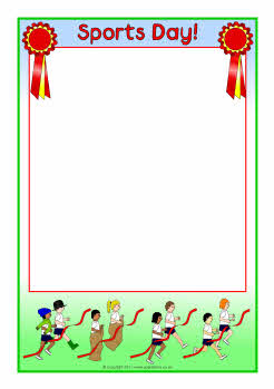 sports day poster template - sports day a4 page borders sb4764 sparklebox