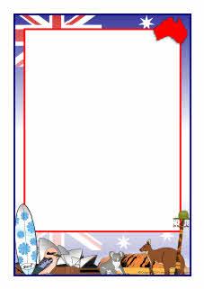 Australia Themed A4 Page Borders Sb5252 Sparklebox