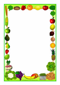 Fruit And Vegetables Themed A4 Page Borders Sb5485