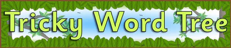 Tricky Word Tree Display Banners  Sb5685