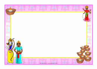 Diwali A4 Page Borders Sb5801 Sparklebox | Dog Breeds Picture