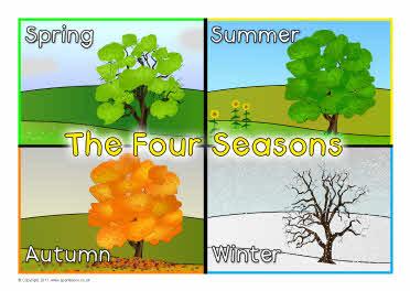 four seasons posters sb5810 sparklebox. Black Bedroom Furniture Sets. Home Design Ideas