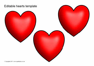Editable heart templates (SB5825) - SparkleBox