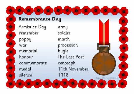 Remembrance Day Word Mat Sb6306 Sparklebox