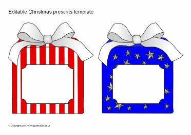 Editable Christmas present templates (SB6623) - SparkleBox