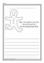 Gingerbread Man colour and write worksheets (SB6672) - SparkleBox