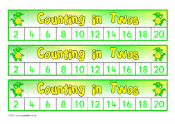 Safari animal counting in 2s number tracks (SB6781) - SparkleBox