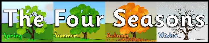 The Four Seasons display banners (SB6825) - SparkleBox Weather