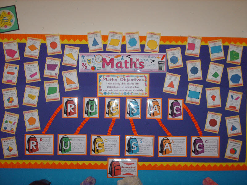 Classroom Display Ideas Ks3 ~ Ks maths problem solving display shapes classroom