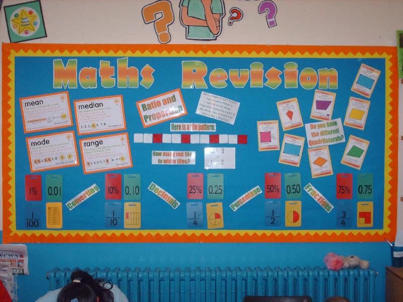 Classroom Revision Ideas ~ Maths revision classroom display photo gallery