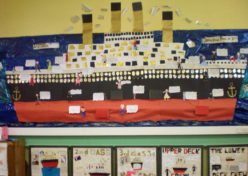Classroom Wall Decoration Images ~ Titanic disaster classroom display photo gallery