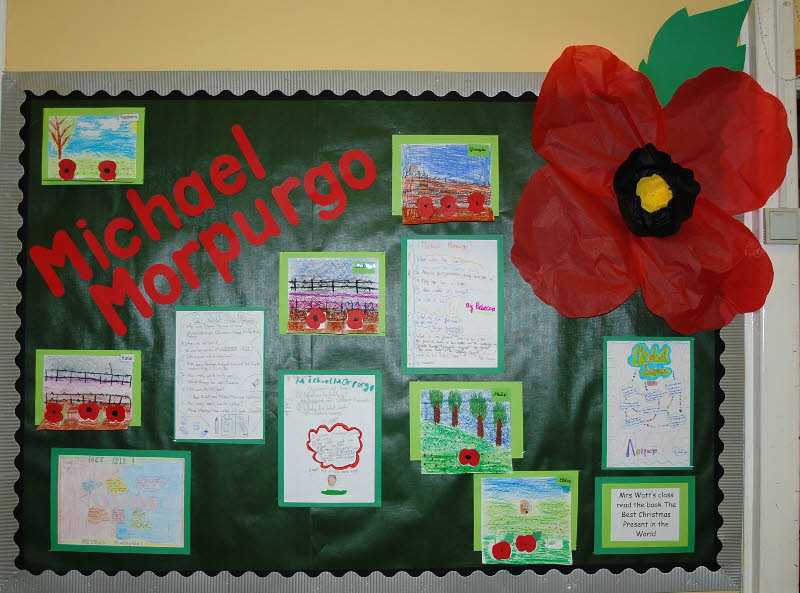 michael morpurgo classroom display photo   photo gallery