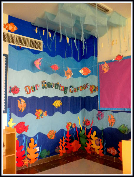 Ocean Decoration For Classroom : Under the sea reading corner classroom display photo