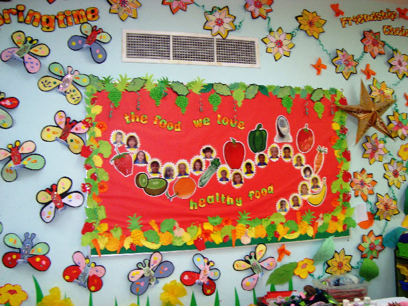 Springtime Friendship Corner Classroom Display Photo