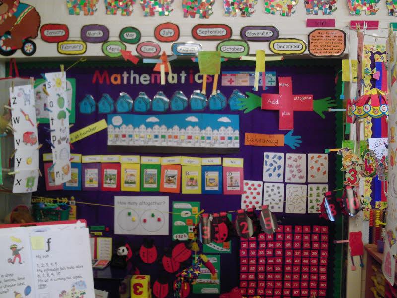 Foundation Stage Mathematics classroom display photo